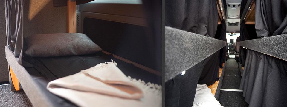 tourbus mieten 9 sitzer mini nightliner. Black Bedroom Furniture Sets. Home Design Ideas