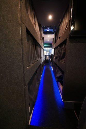 Nightliner Tourbusse Wendt - Gang mit 9 Betten