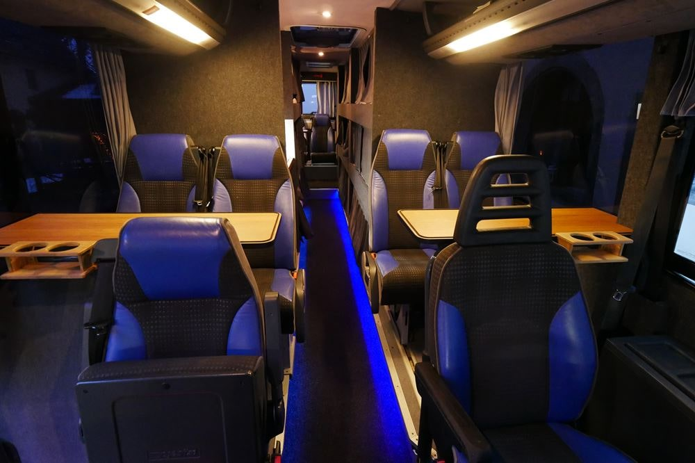 Nightliner Tourbusse Wendt Sitzgruppe
